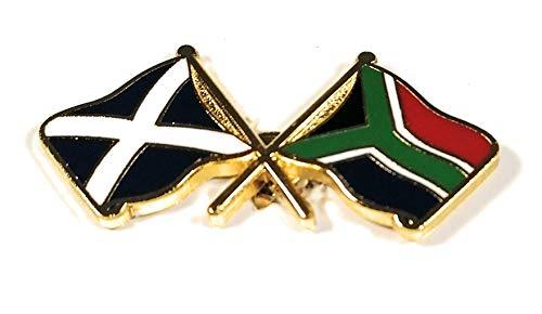 Schotland Saltire en Zuid-Afrika Vlag Vriendschap reversspeld badge door NW Gifts