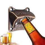 DUDUA Flaschenöffner Wandmontage, Bier Wandflaschenöffner Wall Mounted Bottle Opener für Home Bars und Man Cave (1 Stück)