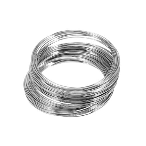 Healifty Metalldraht Armband Schleife Schmuckdraht 60Mm Speicher Wire Wrap Armreif DIY Handwerk Schmuck Ergebnisse