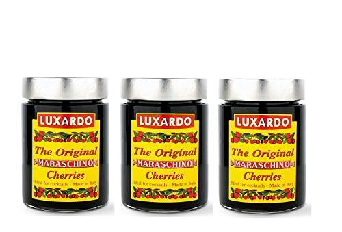 Luxardo Italian Maraschino Cherries In Syrup 400 Gram Jar (Pack of 3)