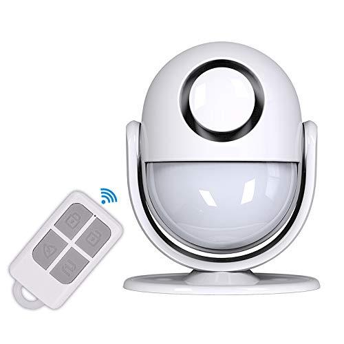 Sirena con Sensore di Movimento , 1 Telecomando Sirena da Magazzino per Casa Intelligente -Sirena 125 DB--Adatta per Interni di Negozi   Uffici   Sicurezza Domestica