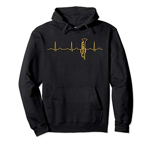Lustige Heartbeat Perinet Trompetenbekleidung Jazz Trompeter Pullover Hoodie
