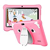 Tablet para Niños con WiFi, IPS 7 Pulgadas Tablet Infantil de Android 10.0 Quad Core 3GB RAM + 32GB /128 GB ROM | WiFi, | Control Parental, Educativo Software para niños preinstalado (Rosado)