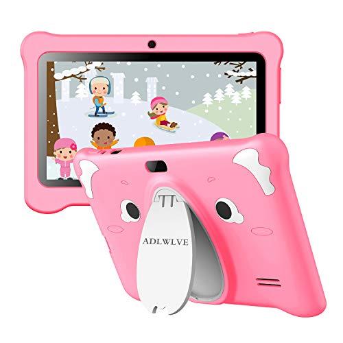 Tablet Bambini 7 Pollici, IPS Android 10.0 (Certificazione Google GMS), Tablet per Bambini 3GB di RAM 32GB, Kid-Proof Custodia, App per il Controllo Parentale, Kids Tablet con WiFi (Rosa)