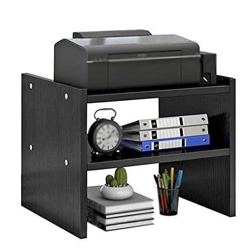 Soporte escritorio para soporte de impresora Soporte de impresora de escritorio Soporte de almacenamiento de 2 capas Soporte para la sala de estar de oficina Máquina de fax Esquema 45 × 30 × 35 cm Est