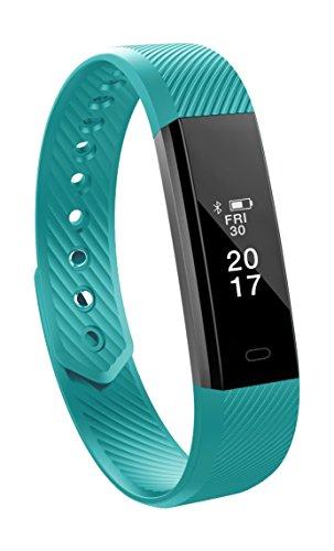 Toksum Alta - Reloj de Pulsera Inteligente con podómetro, para niños, Mujeres y Hombres (Compatible con iPhone y Android)
