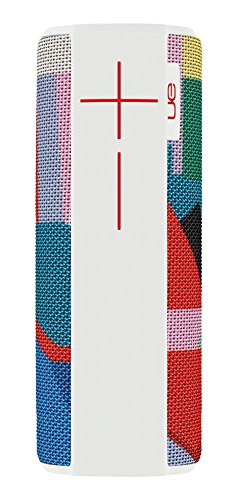 Ultimate Ears Megaboom Tragbarer Bluetooth-Lautsprecher, Satter Tiefer Bass, Wasserdicht, App-Navigation, Kann mit weiteren Lautsprechern verbunden werden, 20-Stunden Akkulaufzeit - kaleidoscope/weiß