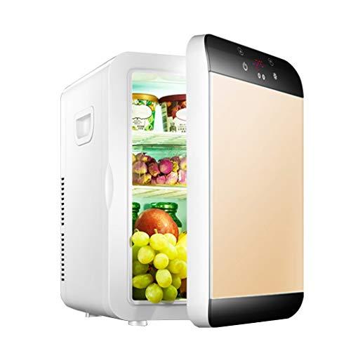 LUCKFY 20 Liter Mini Car Kühlschrank Kühlschrank tragbare elektrische Kühlbox Warmer Gefrierschrank Doppel-Kern Zwei Sätze von Kälteanlagen für Picknick, Camping, Wohn,Gold,Temperature Control
