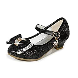 Black/B1 Heels Mary Jane Princess Flower Girl Shoes