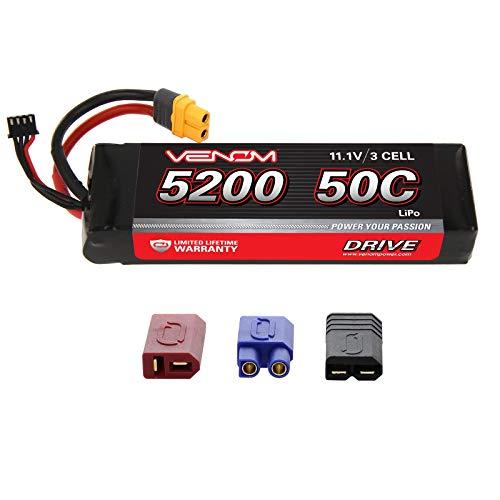 Venom 50C 3S 5200mAh 11.1V LiPo Battery with Universal Plug (EC3/Deans/Tamiya)