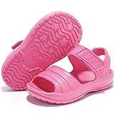 STQ Toddler Sandals Girls Summer Slip On Water Shoes for Beach...