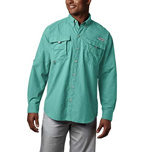 Columbia Sportswear Hombres de Bahama II de Manga Larga, Hombre, Color Gulf Stream, tamaño XX-Large