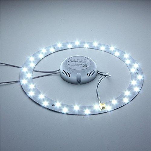 Masunn 18W 36 LED wit/warm wit paneel cirkel ring praktische efficiënte plafondlamp