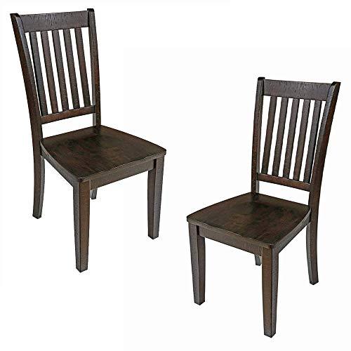 New Classic Furniture San Juan Dining Chair, Set of 2, Distressed Espresso