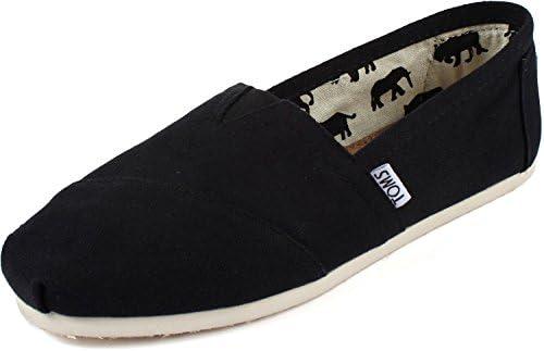 Toms Women s Classic Canvas BLACK Slip on Shoe 9 B M US product image