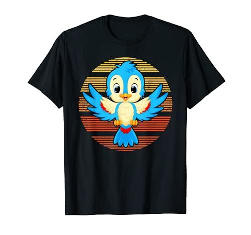 Regalo de Amante de Sunset Bluebird retro vintage Camiseta
