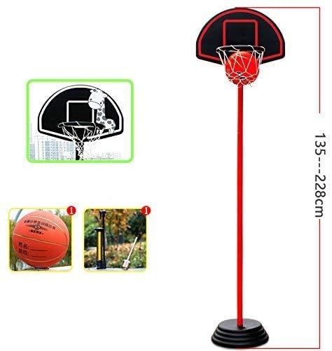 BAIRU Canastas Baloncesto Infantiles Aro De Baloncesto Portátil Interior con Altura Ajustable |Mini Tablero De Baloncesto con No.5 Baloncesto E Inflador, para Adolescentes