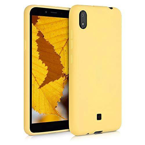 kwmobile Hülle kompatibel mit LG K20 (2019) - Hülle Silikon - Soft Handyhülle - Handy Hülle in Gelb matt