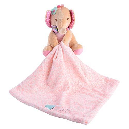Comodidad del bebé toalla, una suave y segura toalla suave de dibujos animados de animales de peluche, abrazo de juguete antes de ir a la cama, regalo para niños(Elephant)