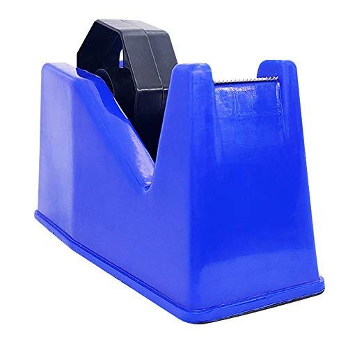 """Masking Tape Dispenser, Tape Dispenser, Desk Heat Tape Dispenser 6.3 x 2.5 x 3.4 Inch, Holder Fits 1"""" and 3"""" Core (Blue)"""