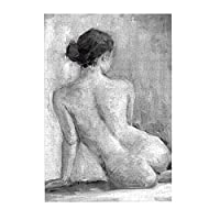 Sexy Nude Girl Naked Lady Back Figurative 木製パズル300ピース楽しいパズル減圧パズル300ピースバースデーギフトホリデーギフト