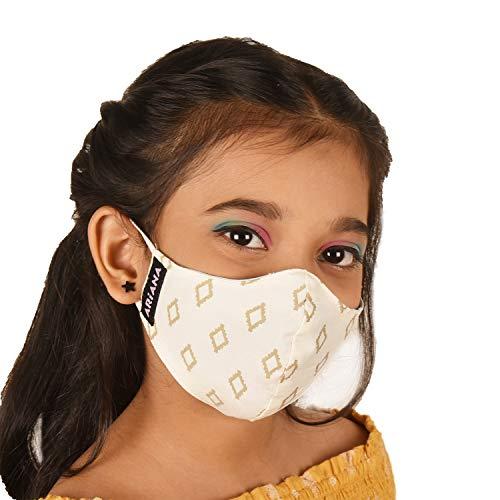 ARiANA Fine Cotton Reusable Mask (Multicolour) for Unisex
