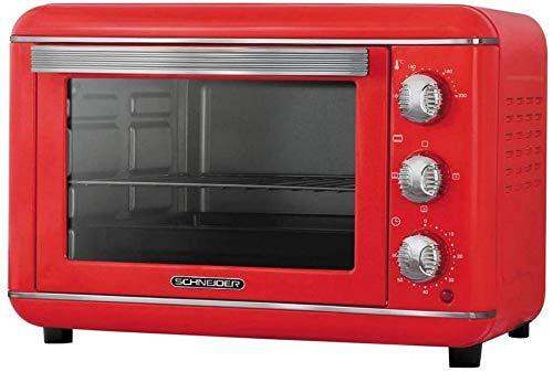Four vintage 23 l chaleur tournante 1500w rouge
