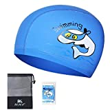 Kids Swimming Hat Embossed Non-Slip Liner,Paciffico PU Waterproof Swimming Cap Ear Protection Breathable