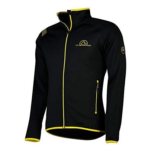 La Sportiva Promo Fleece Sudadera, Unisex Adulto, Black/Yellow, M