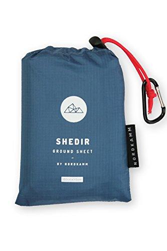 NORDKAMM - Picknickdecke wasserdicht Medium, ideal als Pocket Blanket, Ground Sheet, Stranddecke, Taschendecke, Campingdecke, Sitzunterlage. Ultraleicht u. kompakt für Strand, Camping, Outdoor
