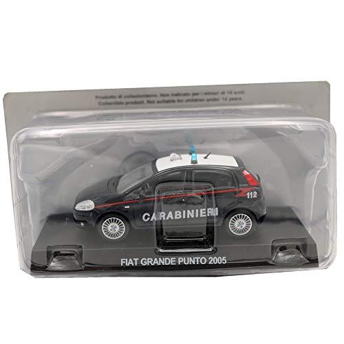 Die Cast Modellino Auto Carabinieri Fiat Grande Punto 2005 - Scala 1:43 – Blu