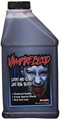 One 16 Fluid Oz Pint Of Blood; The Best In Pints Of Blood For Halloween & Theater Pint Blood - Manufactured by Kangaroo; Highest Quality Consistency & Pour Halloween Fake Blood; Vampire Blood, 16 Oz; Blood Halloween Professional Quality; Perfect Cons...