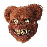 circulor Mascara Oso Loco Sangriento, Máscaras para Adultos - Mascaras De Terror - 24 X 26 X 11 Cm