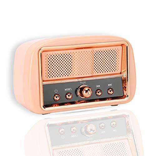 Sutinna Retro Bluetooth Speaker, Portable Mini Music Player, Vintage Wireless Speaker with Shock...
