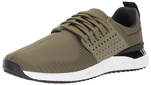 adidas Men's Adicross Bounce Golf Shoe, Olive Cargo/Black/White, 10 M US