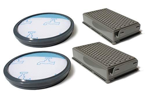 MI:KA:FI 2x Set de filtre | pour aspirateur Rowenta + Moulinex + Tefal | Compact Power Cyclonic | comme ZR005901