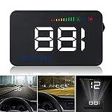 GOFORJUMP Pantalla Head Up Display A500 Velocidad del Coche Proyector 3.5 Pulgadas Universal Car-Styling Parabrisas OBD2 GPS Digital Velocímetro del Coche Alarma