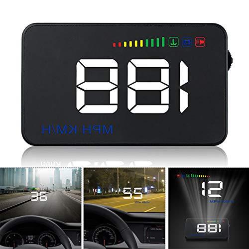 GOFORJUMP Head Up Display A500 Auto Geschwindigkeit Projektor 3,5 Zoll Universal Auto-Styling Windschutzscheibe OBD2 GPS Digitaler Auto Tacho Alarm