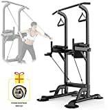 Dip Station regolabile per palestra Chin Up Bar Core Power Tower Pull Push Dip Stand Stazi...