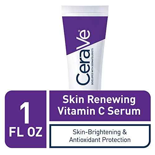 41sYjKuRZ2L - CeraVe Vitamin C Serum with Hyaluronic Acid | Skin Brightening Serum for Face with 10% Pure Vitamin C | Fragrance Free | 1 Fl. Oz