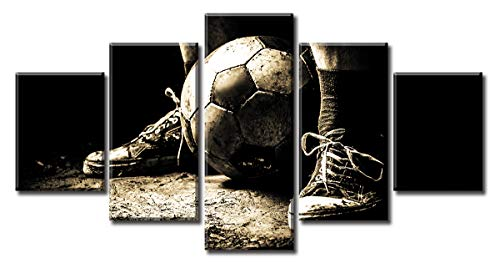 5 Panel Soccer Sports Canvas