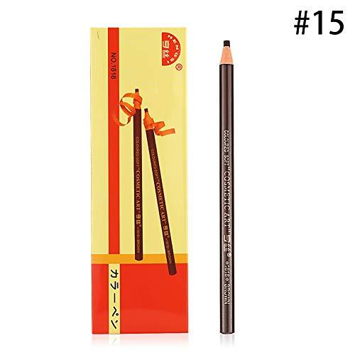 Xiton 1PC Crayons Sourcils Waterproof Peel-off Brow Pen longue durée Sourcils cosmétiques pour le marquage Brow définies, le remplissage et Décrivant (15 Mid café)