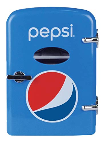 Pepsi 6-can Mini Fridge, MIS133PEP, BLUE (Renewed)