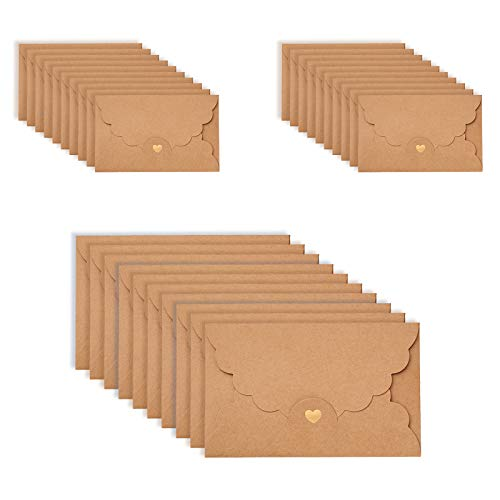 ASFINS Enveloppe Papier Kraft, 3...