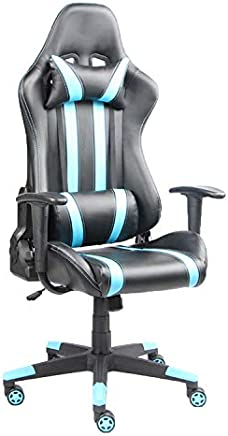 Racoor Video Gaming Chair, Black and Blue - H 139 cm x W 70 cm x D 54 cm