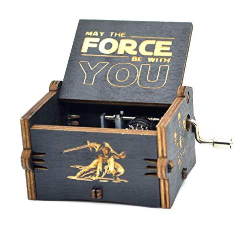 Star Wars Music Box- 18 Note Mechanism Antique Carved Music Box Crafts (Star Wars(Black))