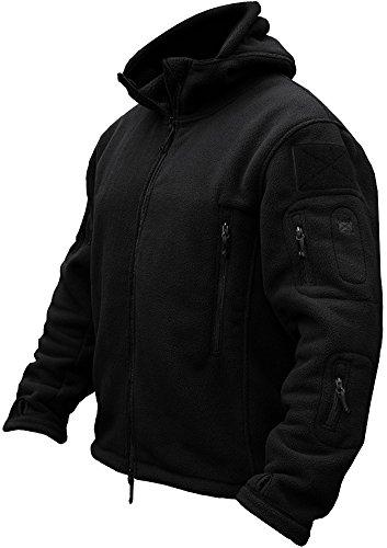 TACVASEN Men's Tactical Fleece Jacket (X-Large,Black)