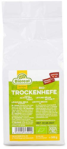 BIOREAL Bio Hefe 500 g Trockenhefe lockere Hefegebäcke Brote Brötchen Kuchen