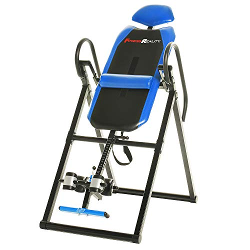 Fitness Reality 690XL Inversion Table with Lumbar Pillow, 300 Lbs Capacity