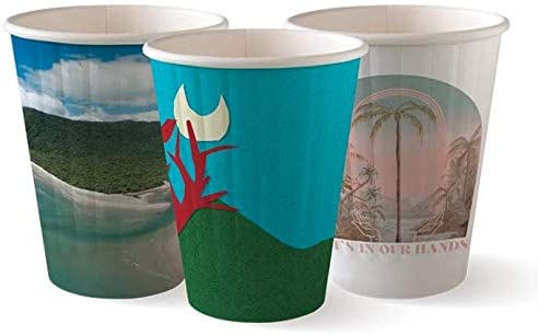 BioCup Art Series Design - Double 1 Popular standard Coffee Wall Compostable Cup Surprise price